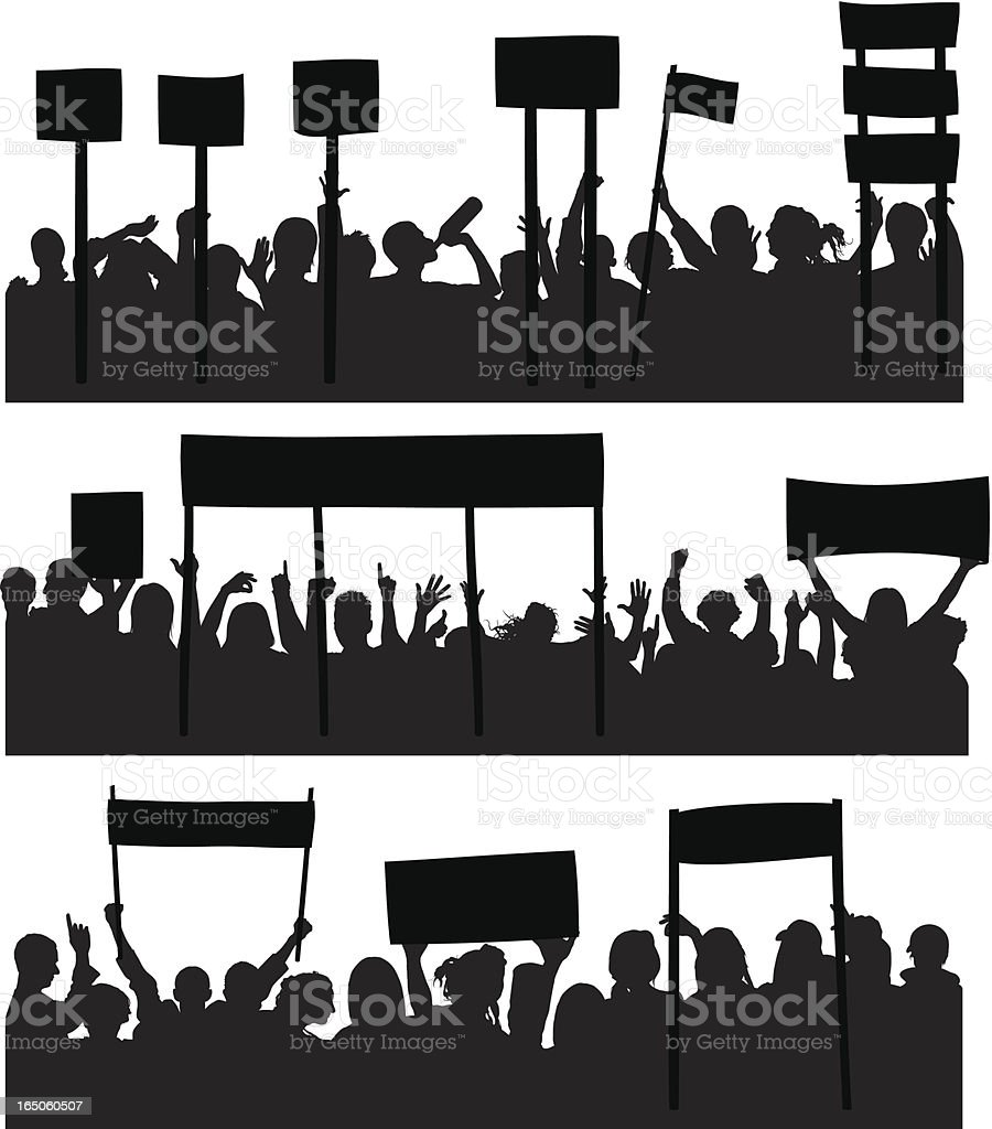 Protesters royalty-free stock vector art