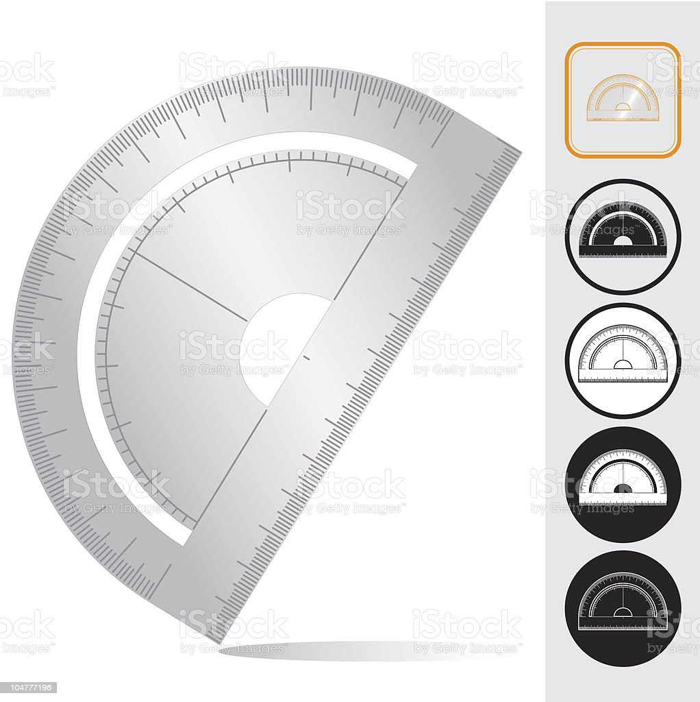 Protractor royalty-free stock vector art