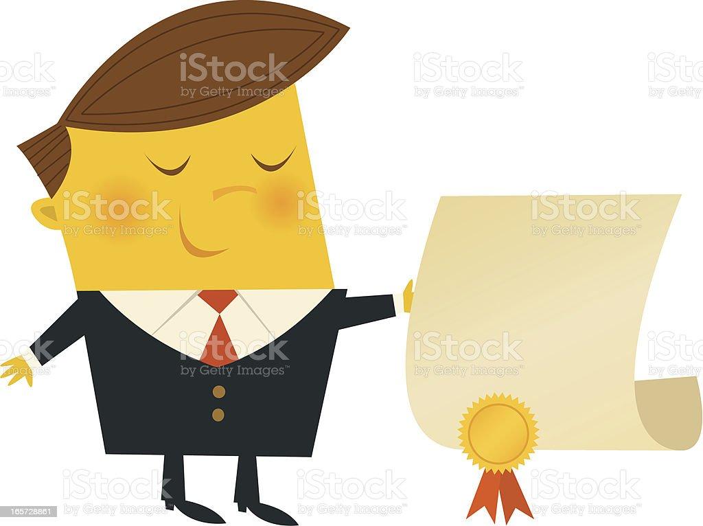 Proud Businessman royalty-free stock vector art