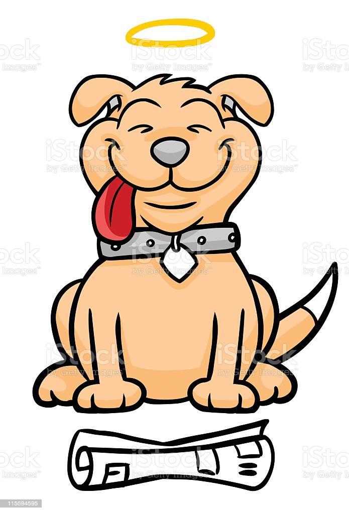 Proud Dog royalty-free stock vector art