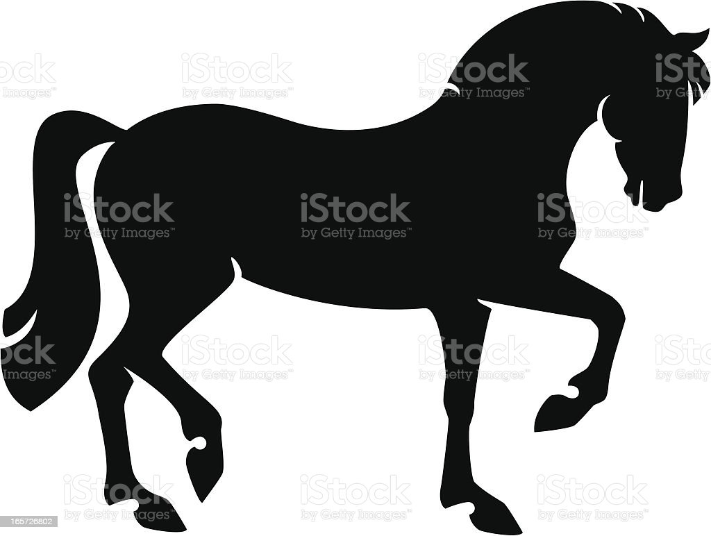 Proud Horse Silhouette royalty-free stock vector art