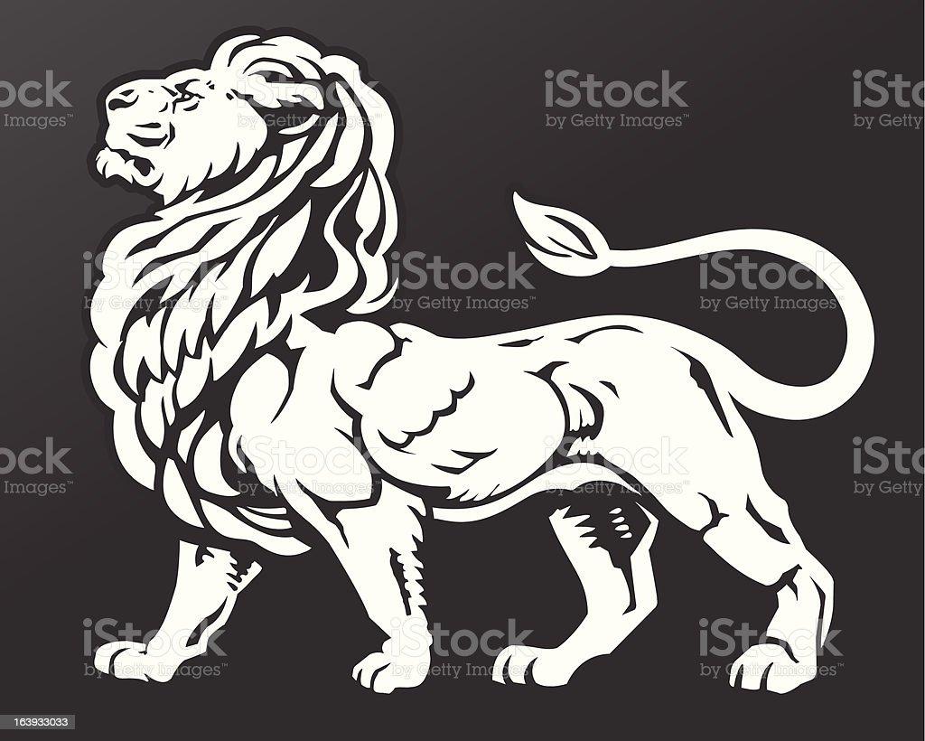 Proud Lion royalty-free stock vector art