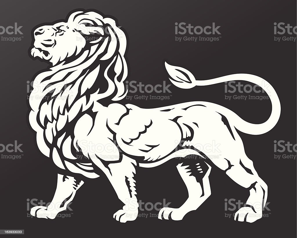 Proud Lion vector art illustration