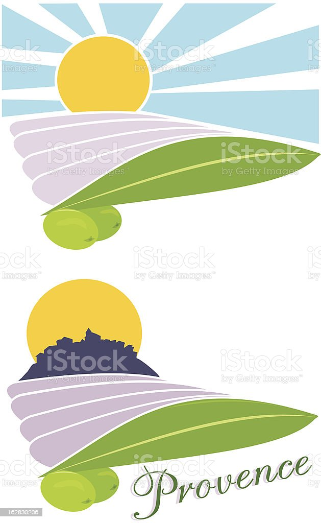 provence - land of france royalty-free stock vector art