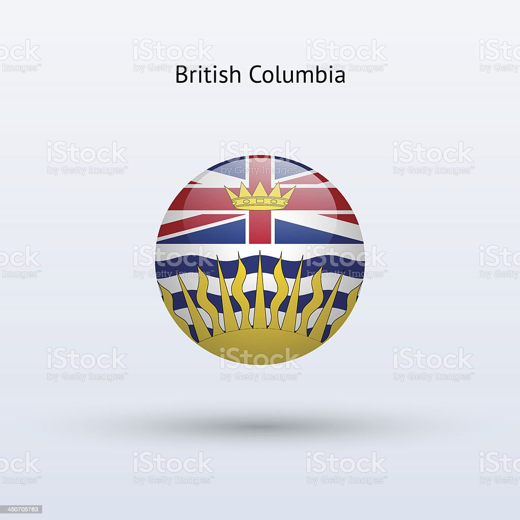 Province of British Columbia Flag (Canada) vector art illustration