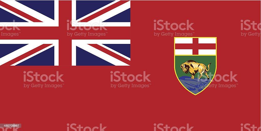 Province of Manitoba (Canada) vector art illustration