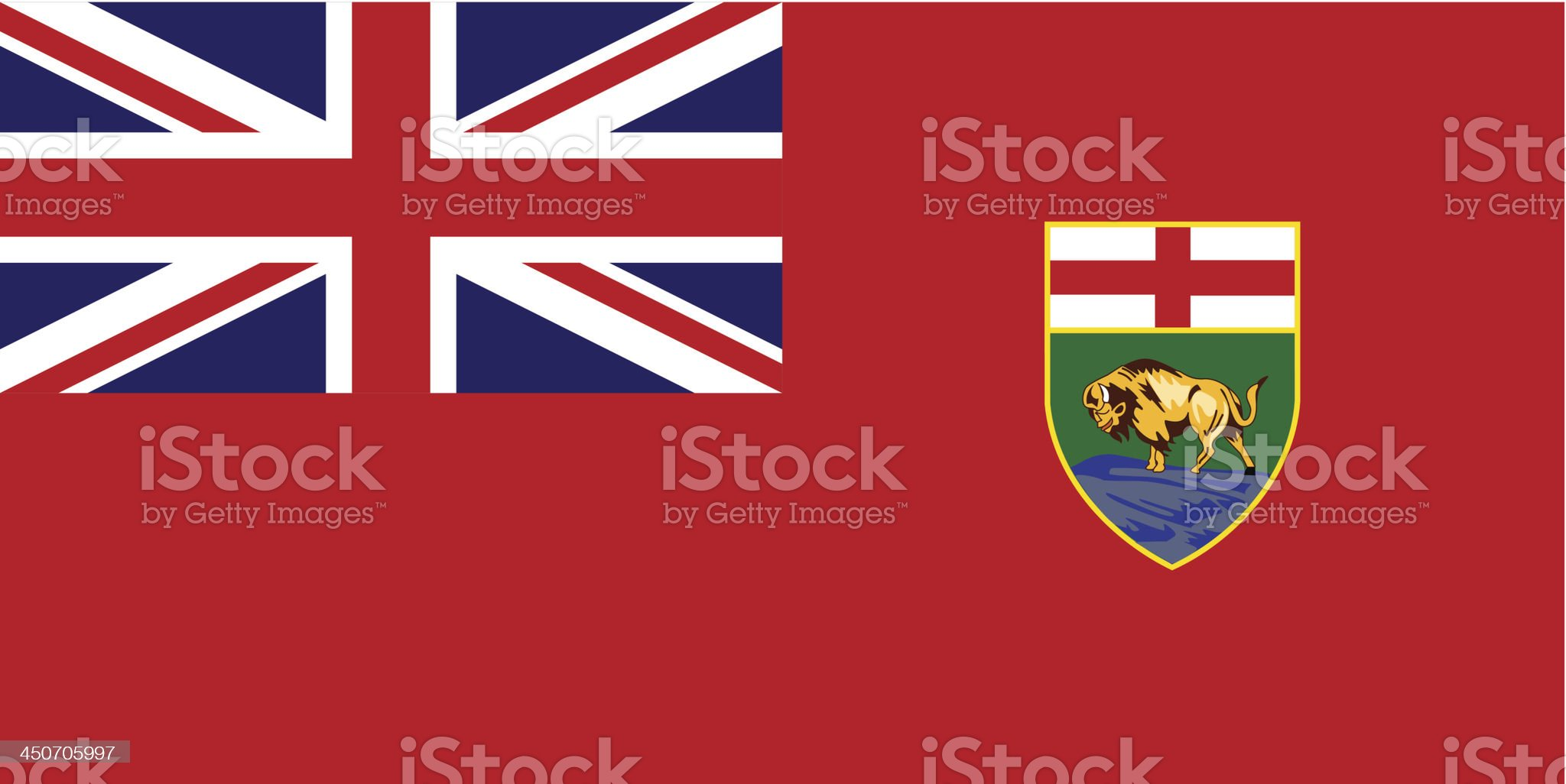 Province of Manitoba (Canada) royalty-free stock vector art