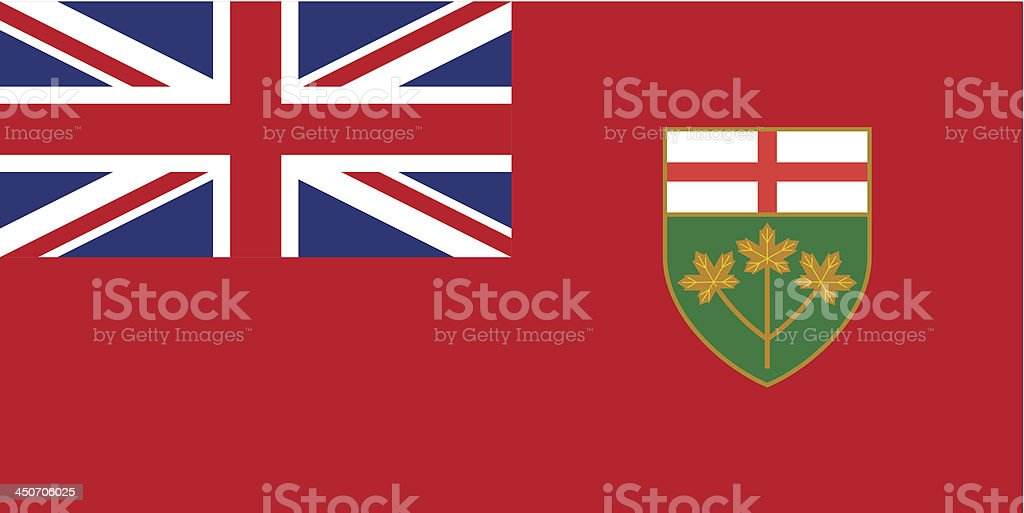 Province of Ontario (Canada) vector art illustration