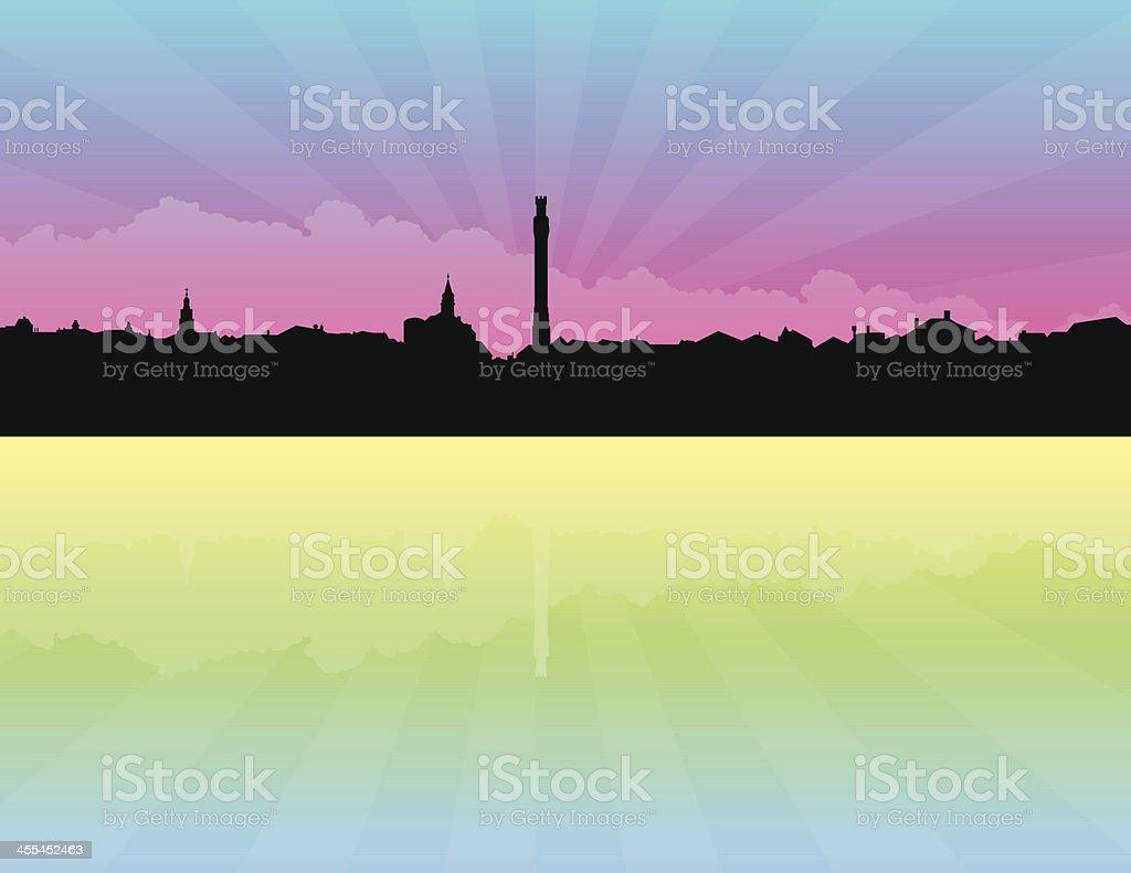 Provincetown Massachusetts Skyline royalty-free stock vector art