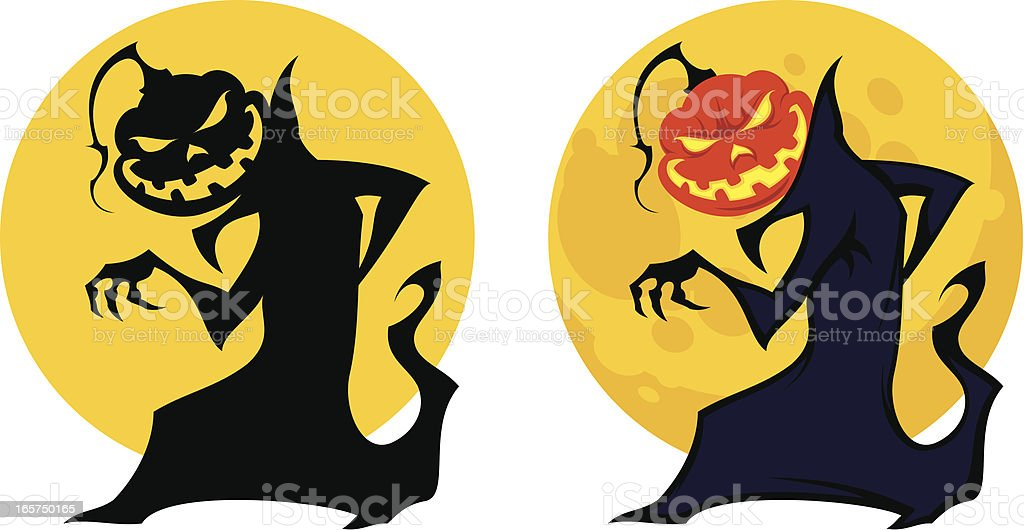 Prowling Jack-o-lantern royalty-free stock vector art