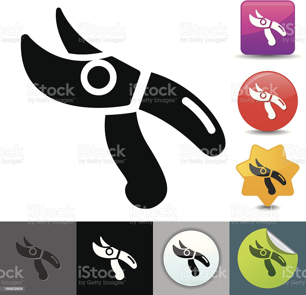 Pruning shears icon | solicosi series royalty-free stock vector art