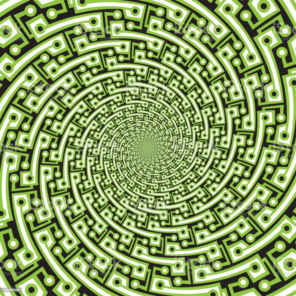 Pseudo spiral 09 vector art illustration