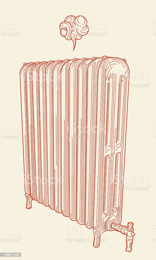 Pssst... It's Your Friend, the Radiator. vector art illustration