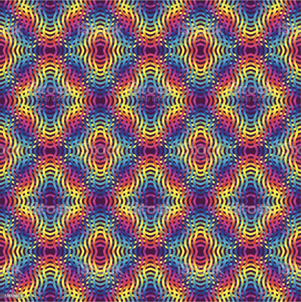 Psychedelic colored background vector art illustration