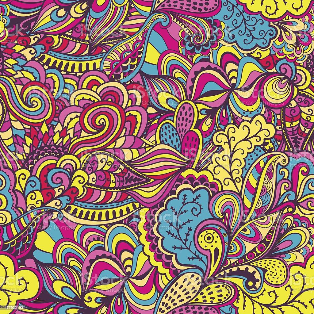 Psychedelic Doodle vector art illustration