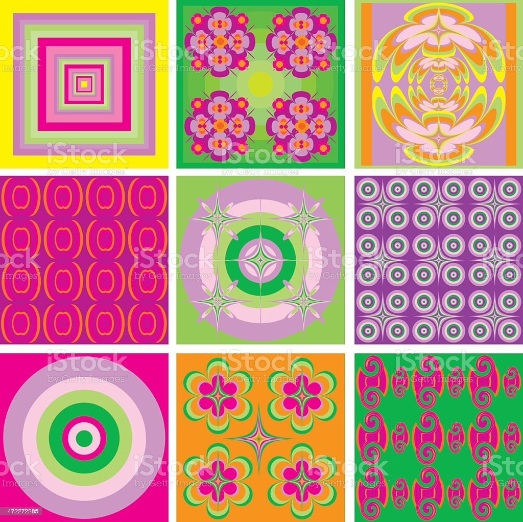 Psychedelic Pattern / Wallpaper - sixties style (seamless) royalty-free stock vector art