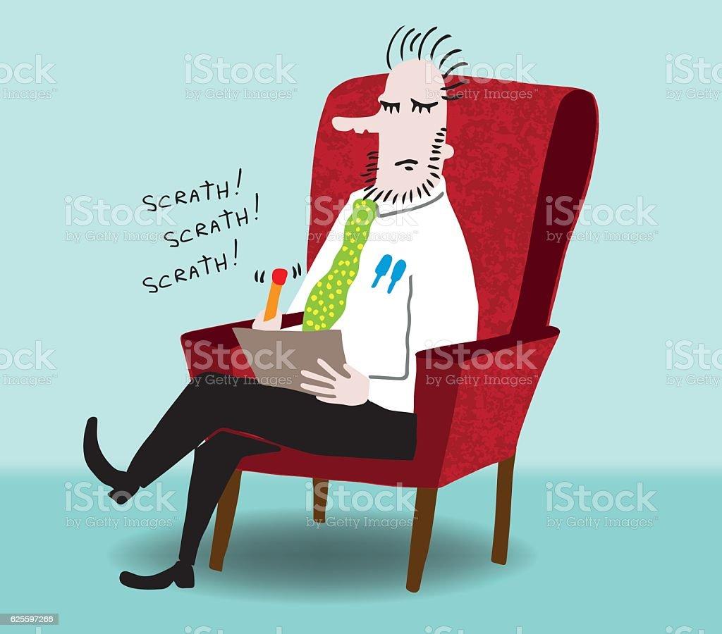 Psychiatrist vector art illustration