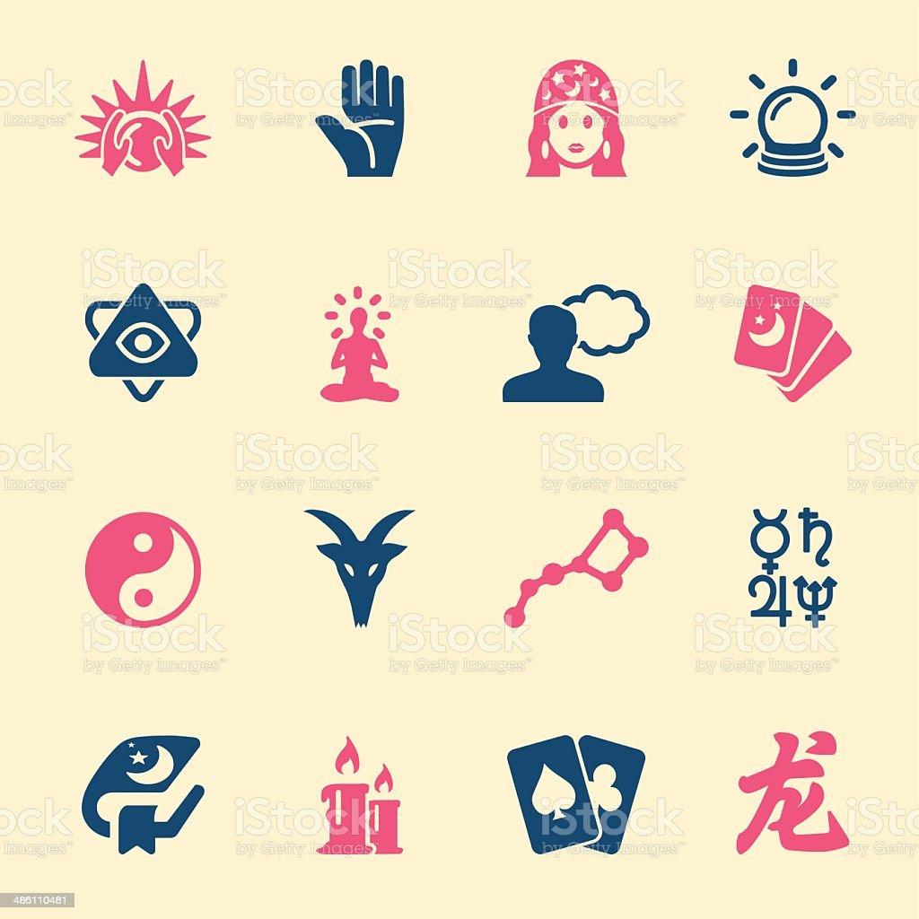 Psychic fortune teller icons Color Series | EPS10 vector art illustration