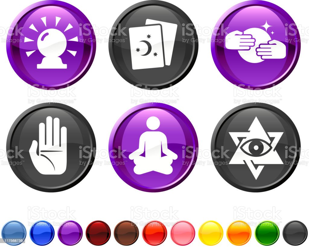 psychic fortune teller royalty free vector icon set royalty-free stock vector art