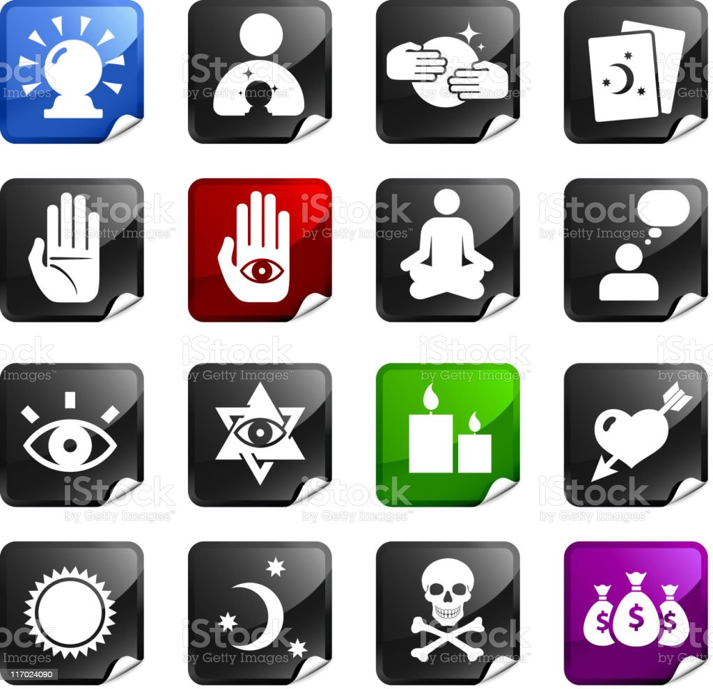 psychic fortune teller sixteen royalty free icons royalty-free stock vector art