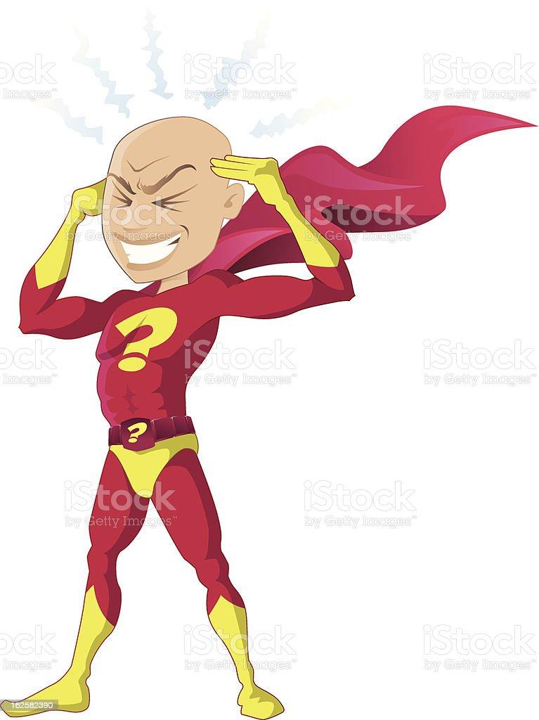 Psychic Superhero royalty-free stock vector art