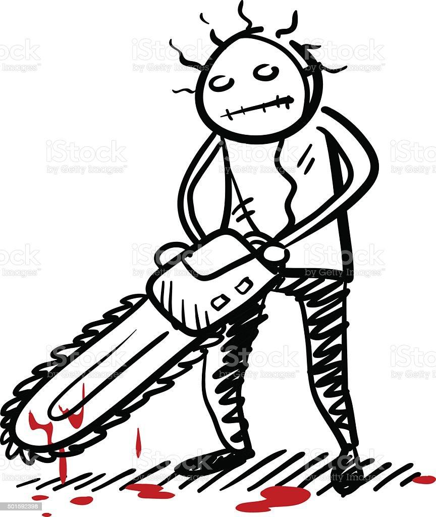 Psycho Killer vector art illustration