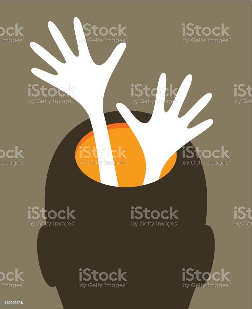 Psychological assistance vector art illustration