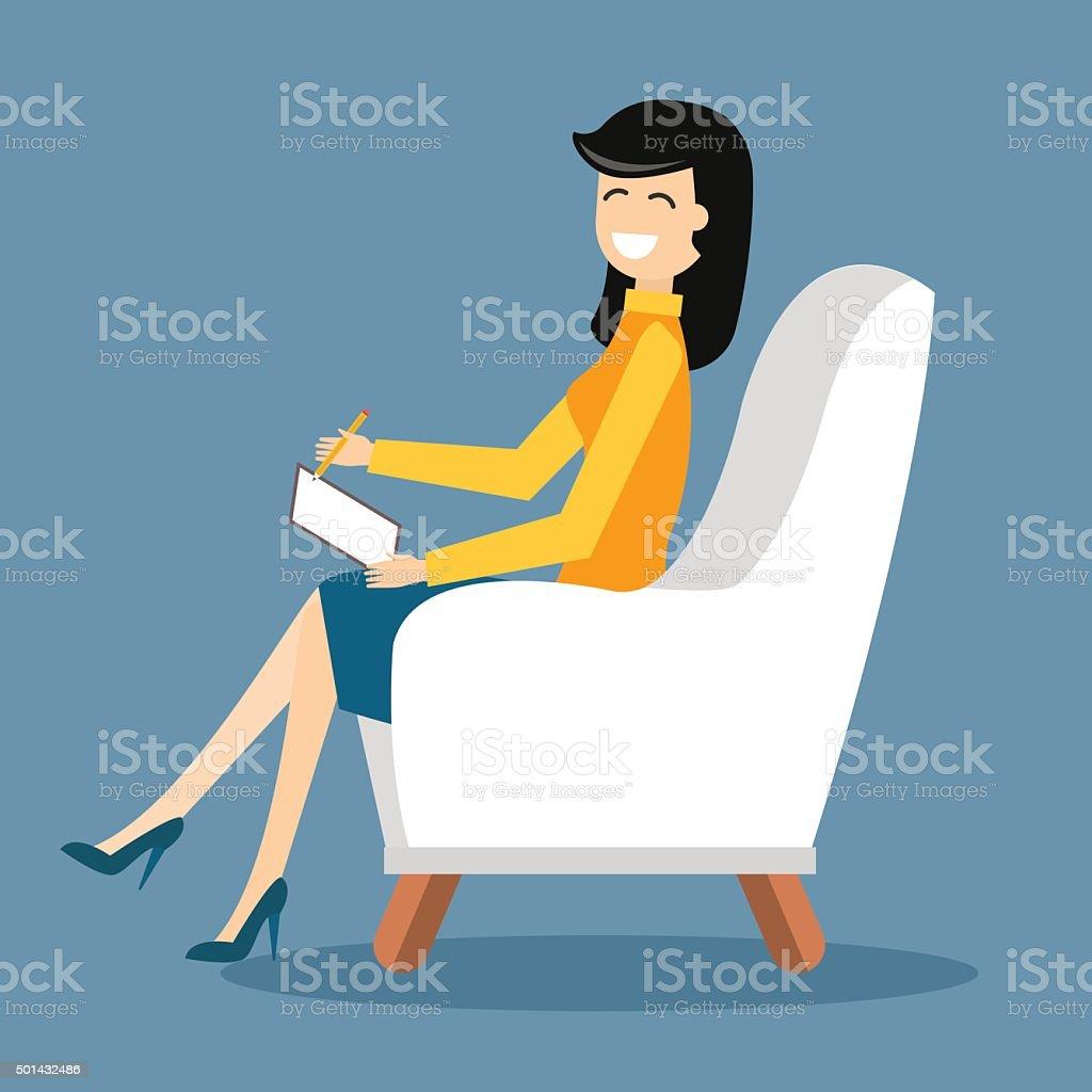 Psychologist office cabinet room vector illustration vector art illustration