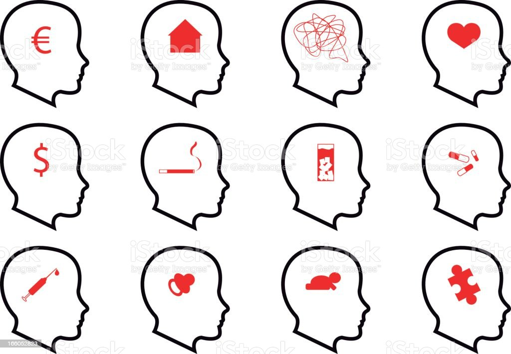 Psychology Icons royalty-free stock vector art