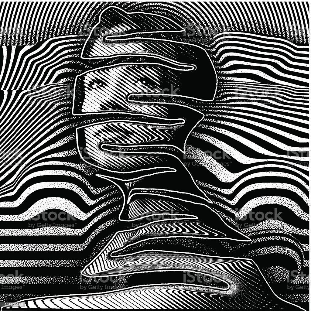 Psychology Portrait vector art illustration