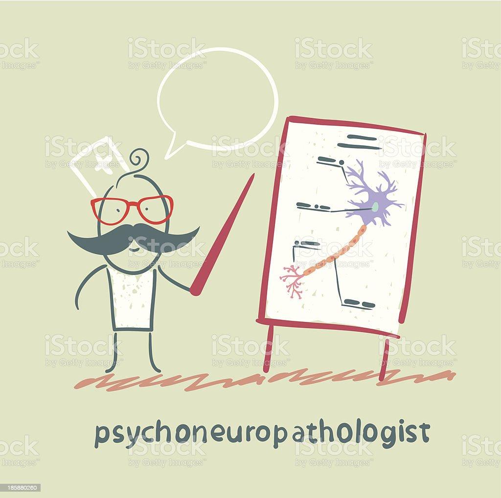 psychoneuropathologist gives a presentation royalty-free stock vector art