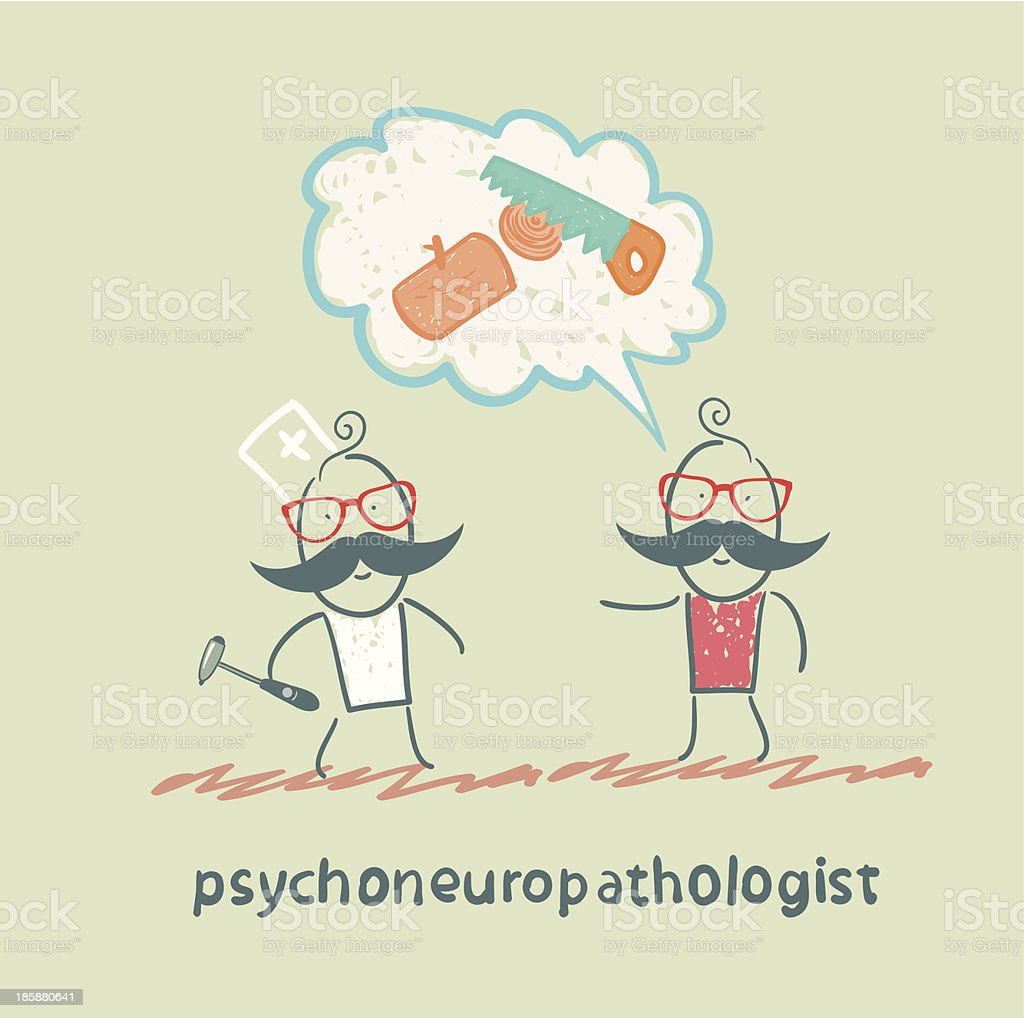 psychoneuropathologist speaks with the patient royalty-free stock vector art