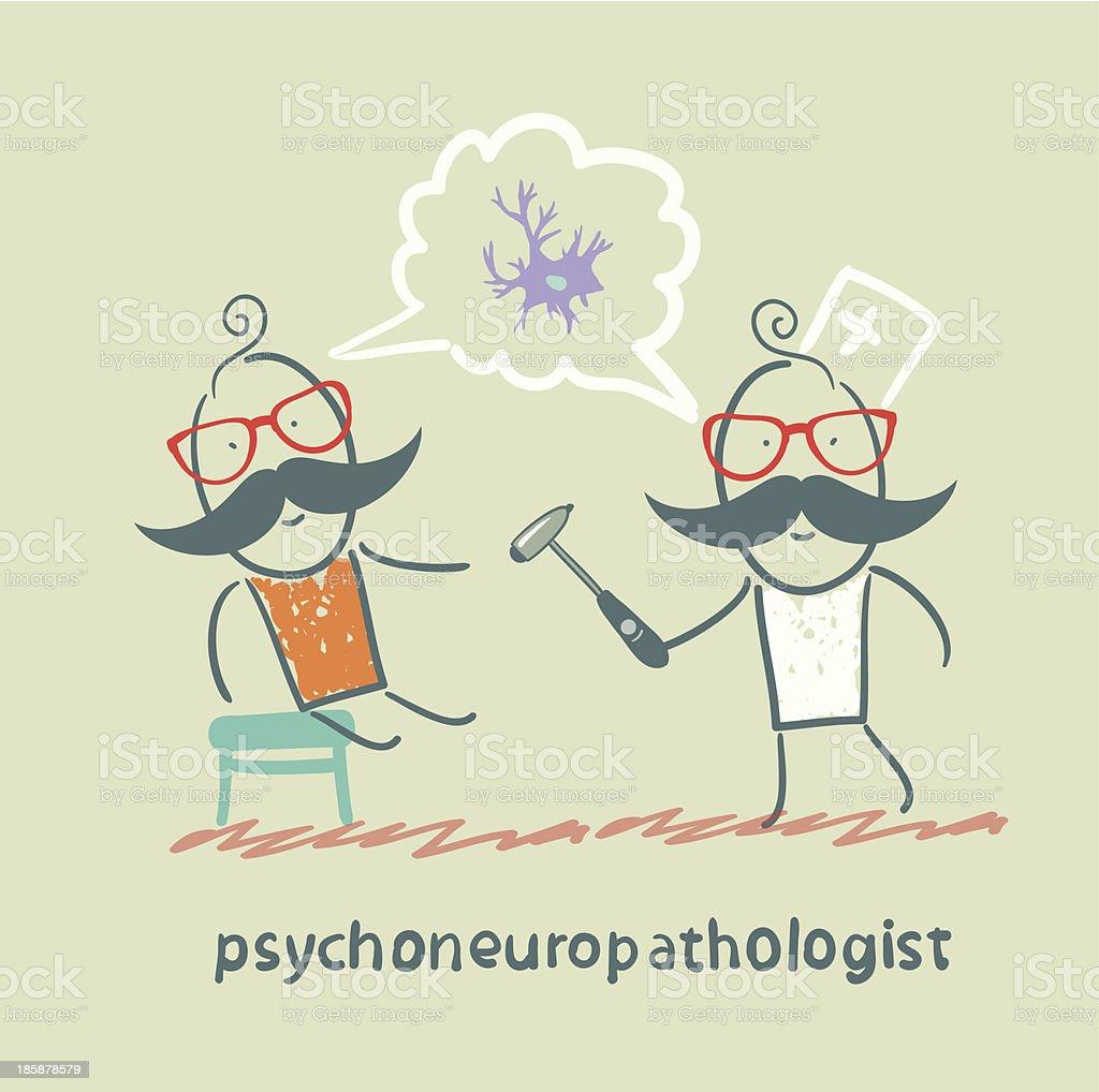 psychoneuropathologist royalty-free stock vector art