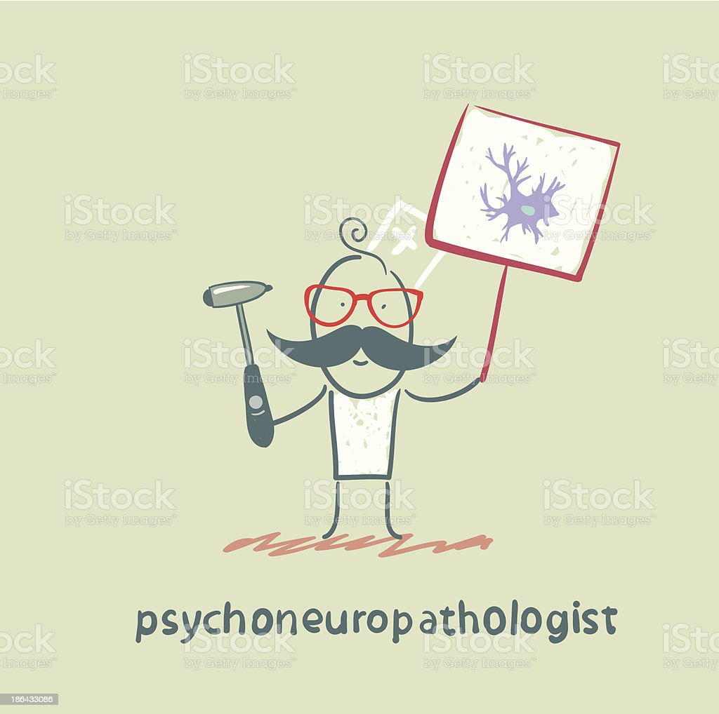 psychoneuropathologist royalty-free stock vector art