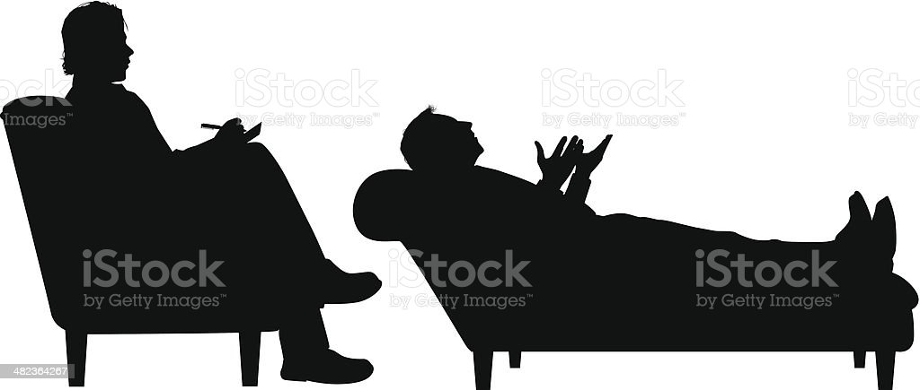Psychotherapy vector art illustration