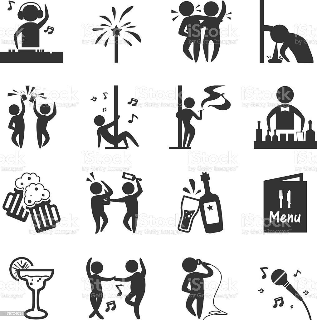 Pub Bar vector art illustration