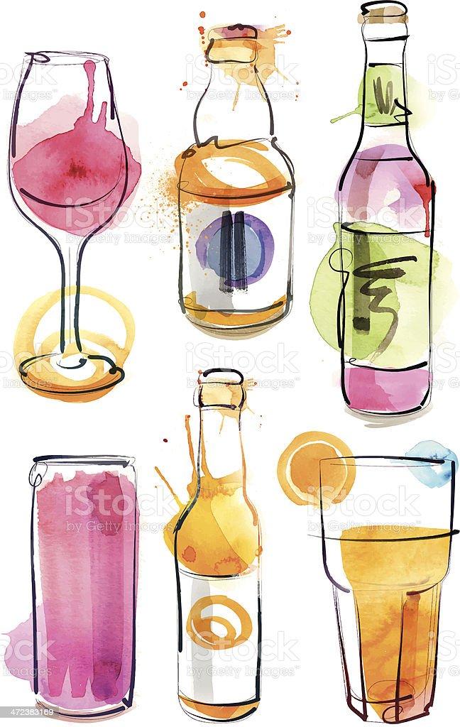 Pub Glasses vector art illustration