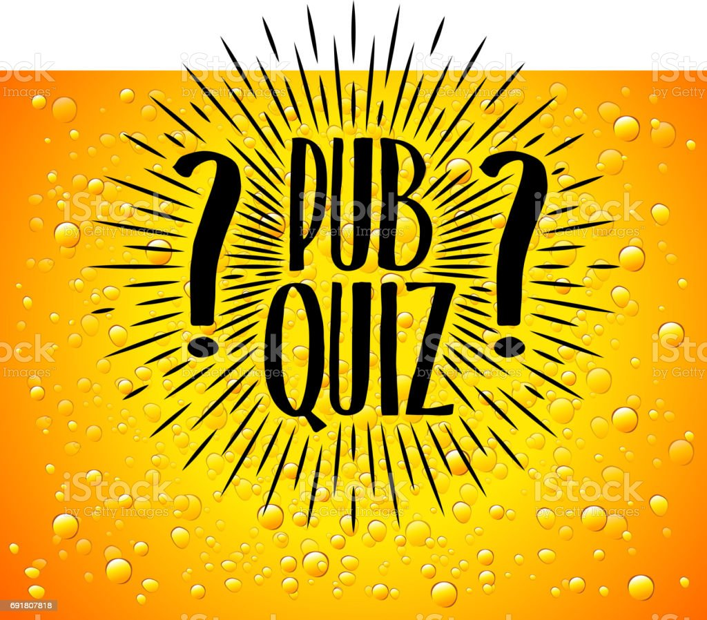 Poster design for quiz - Pub Quiz Beer Background Quiz Night Announcement Poster Design Web Banner Background Vector Illustration