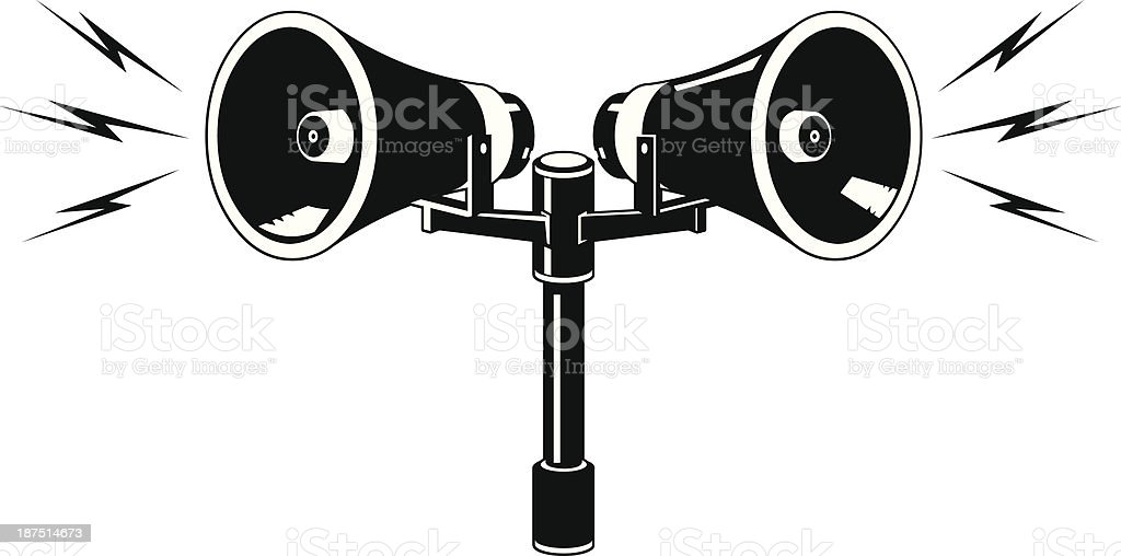 Public Address Speaker Announcement Icon vector art illustration