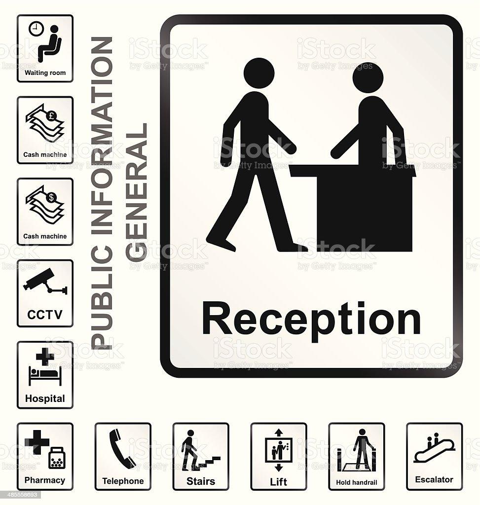 Public Information Signs vector art illustration