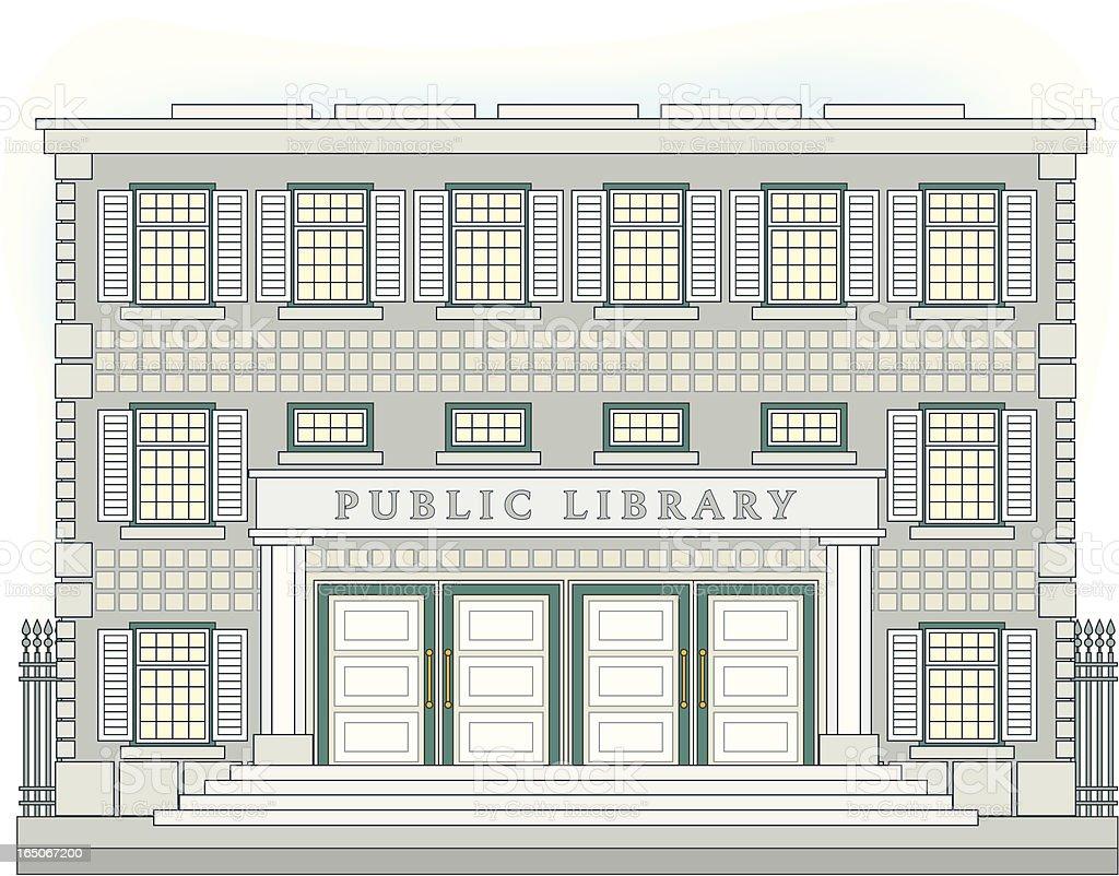Public Library royalty-free stock vector art