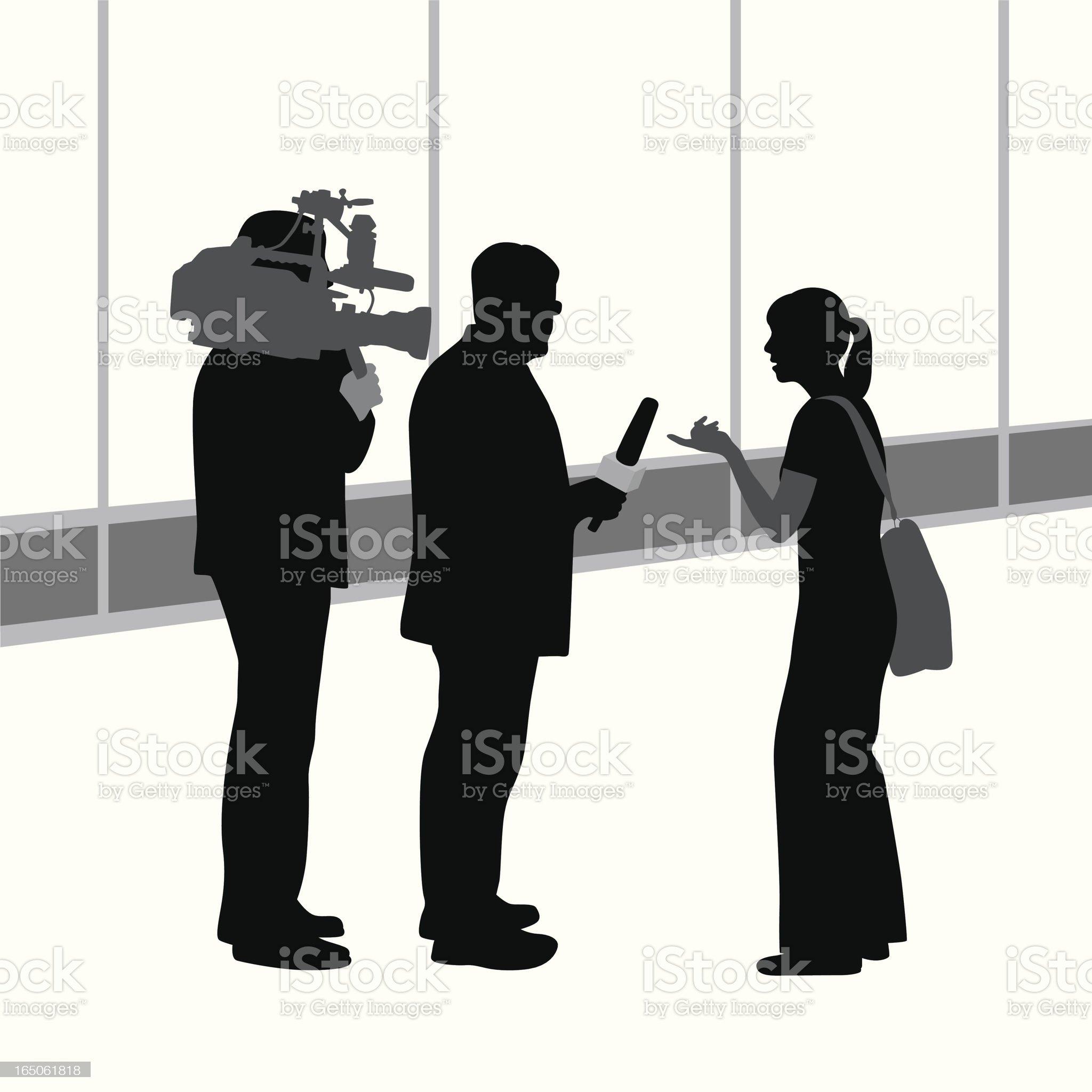 Public Opinion Vector Silhouette royalty-free stock vector art