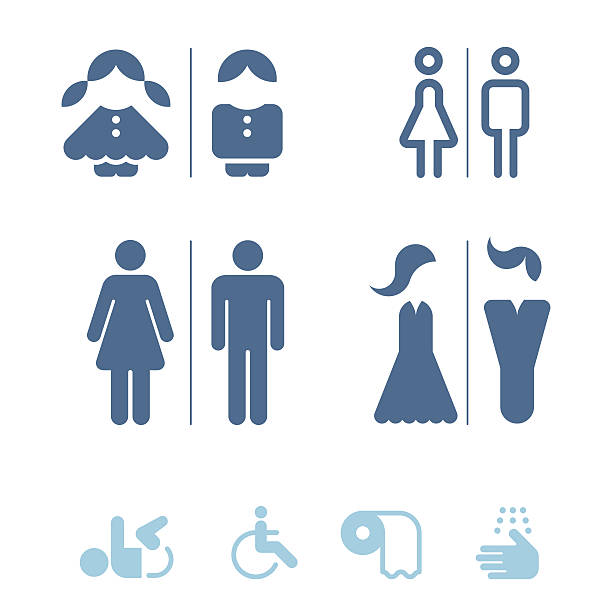 Restroom Sign Clip Art, Vector Images & Illustrations