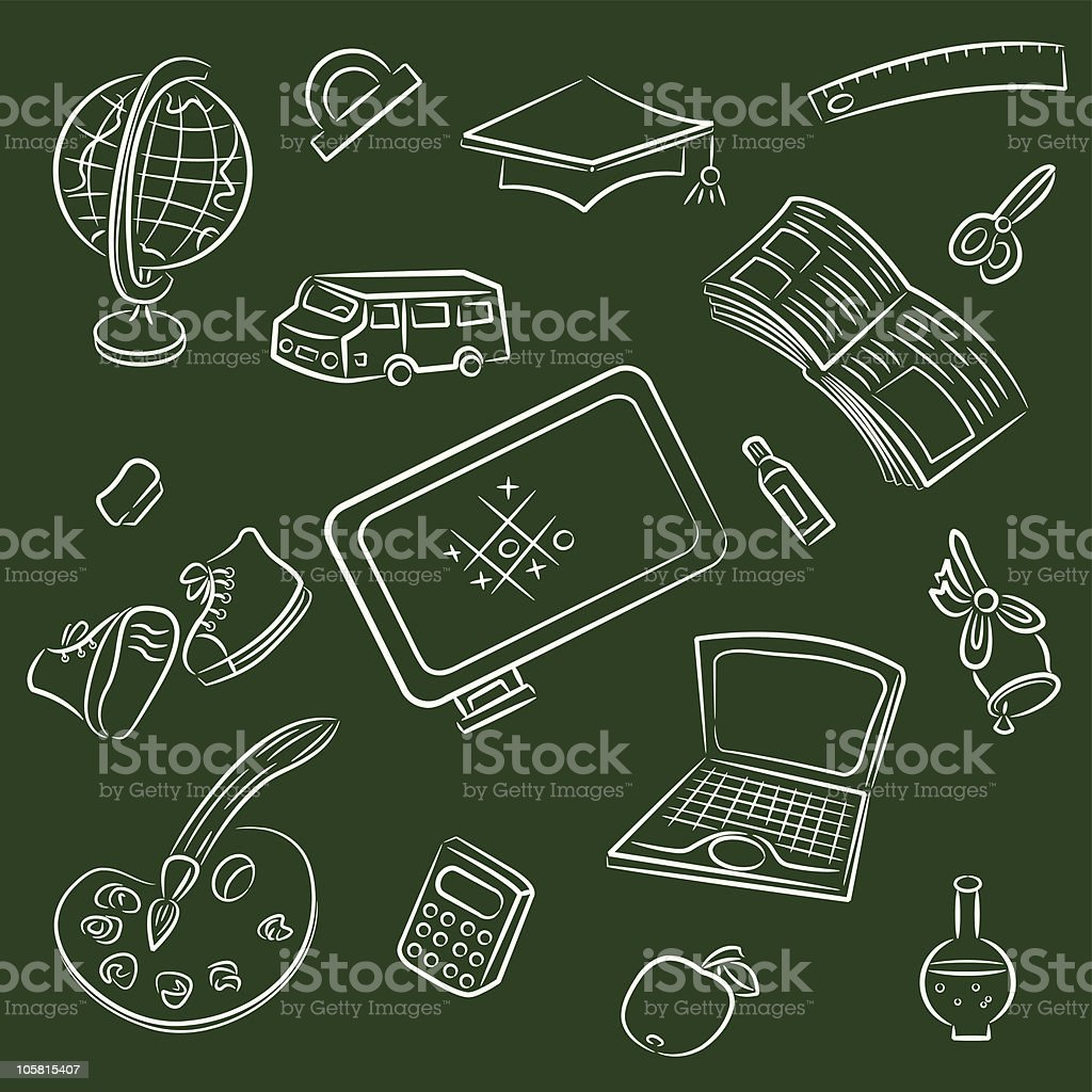 Public school and graduation icon royalty-free stock vector art