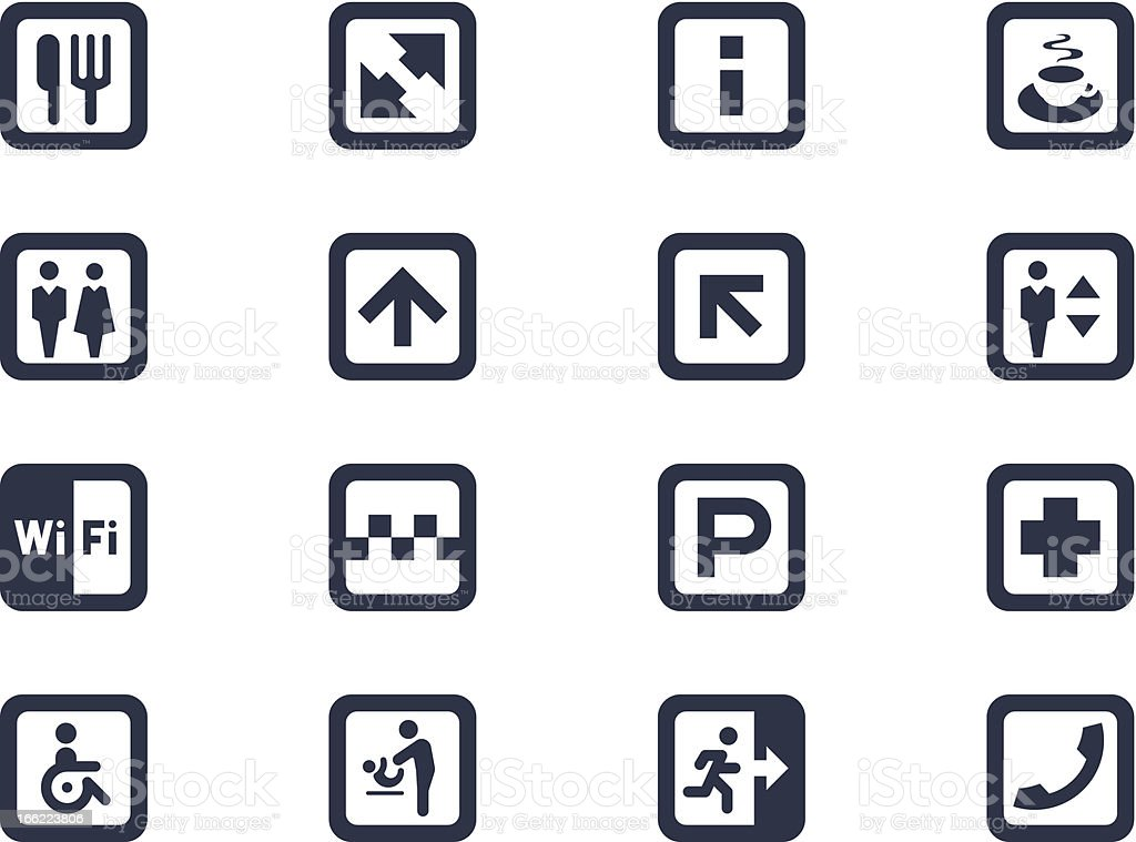 Public signs and symbols royalty-free stock vector art