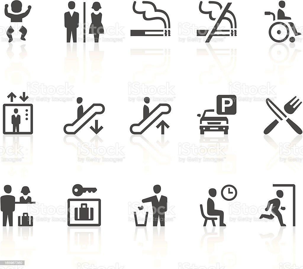 Public signs vector art illustration