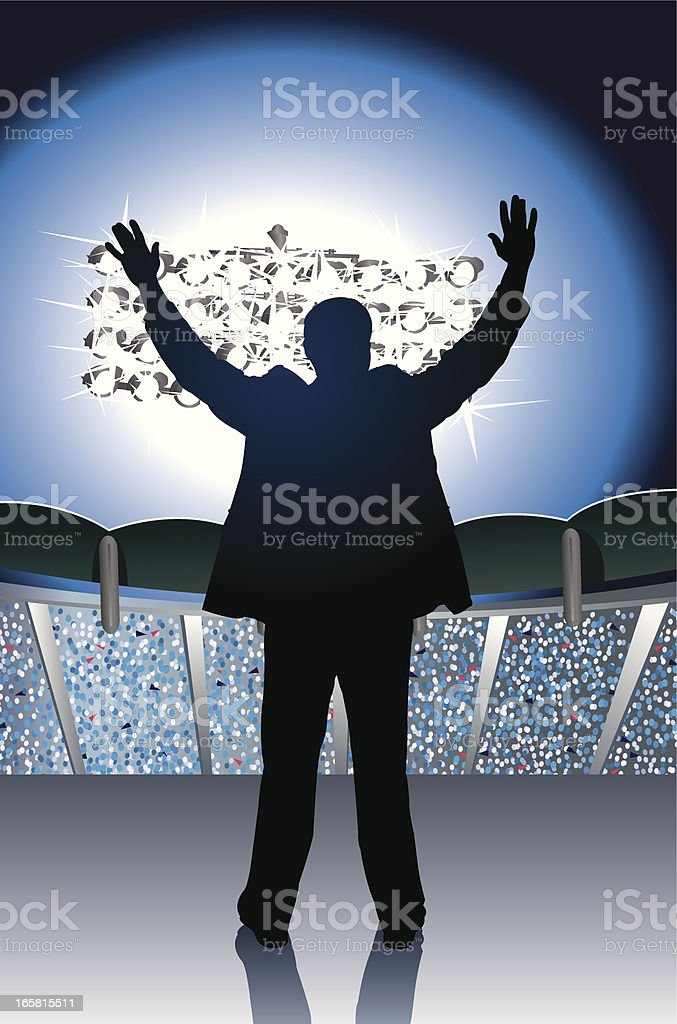 Public Speaker or Political Candidate royalty-free stock vector art