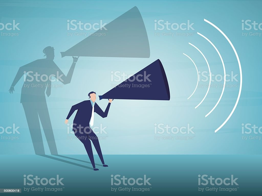Public Speaker vector art illustration