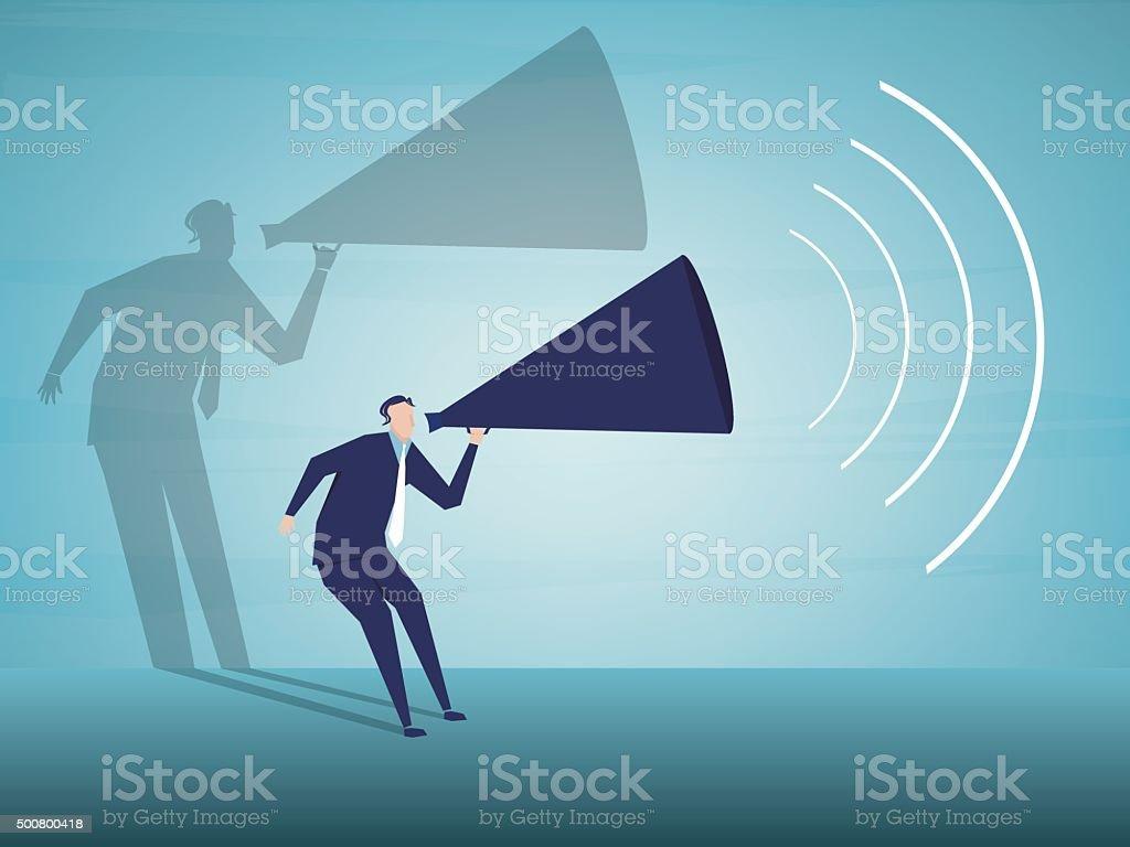 Public Speaker vector art illustration