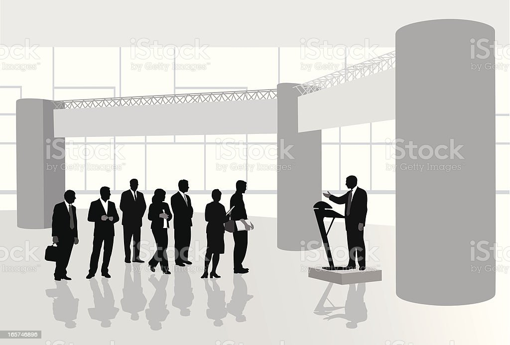 Public Speaker Vector Silhouette royalty-free stock vector art